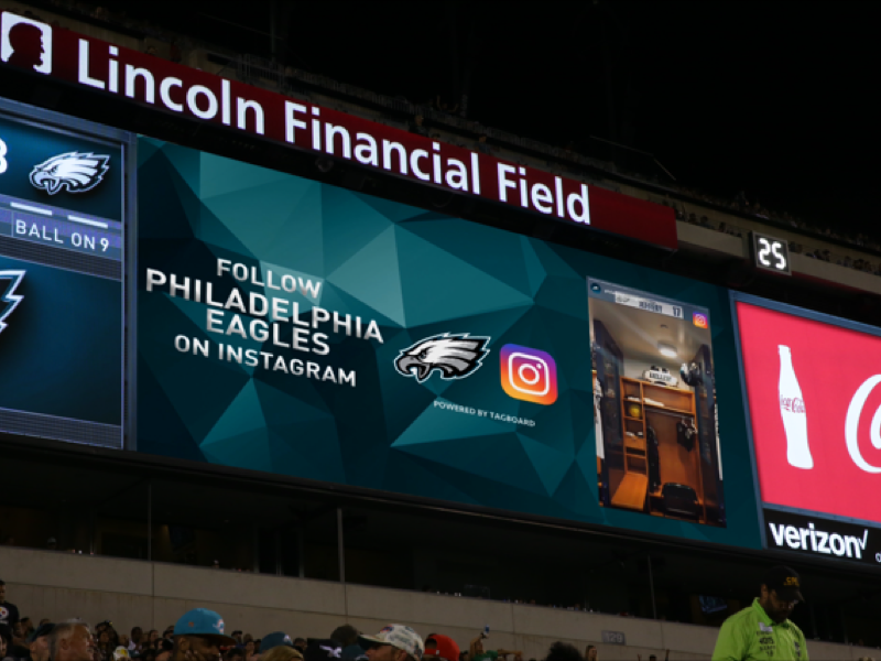 Instagram Stories Display Philadelphia Eagles