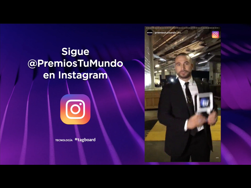 Instagram Stories Display Telemundo Premios tu Mundo 2017