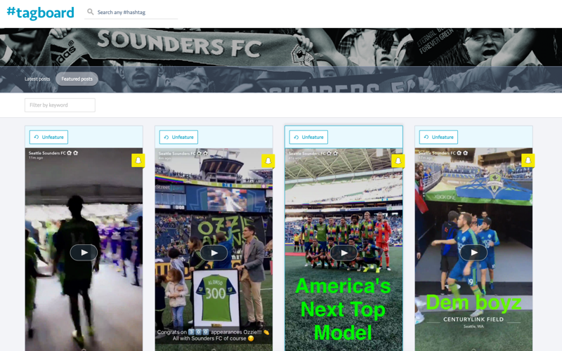 Feature highlight - Seattle Sounders