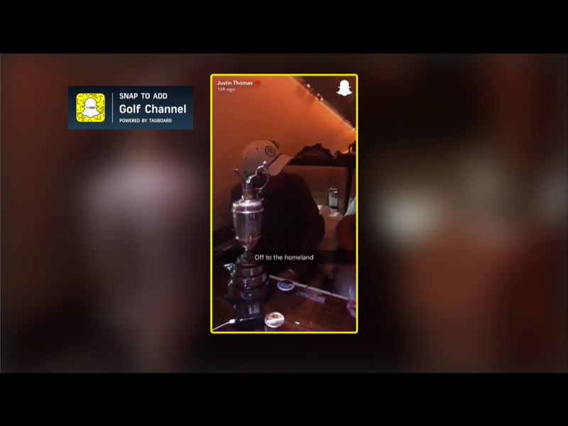 Snapchat Stories Display Golf Channel
