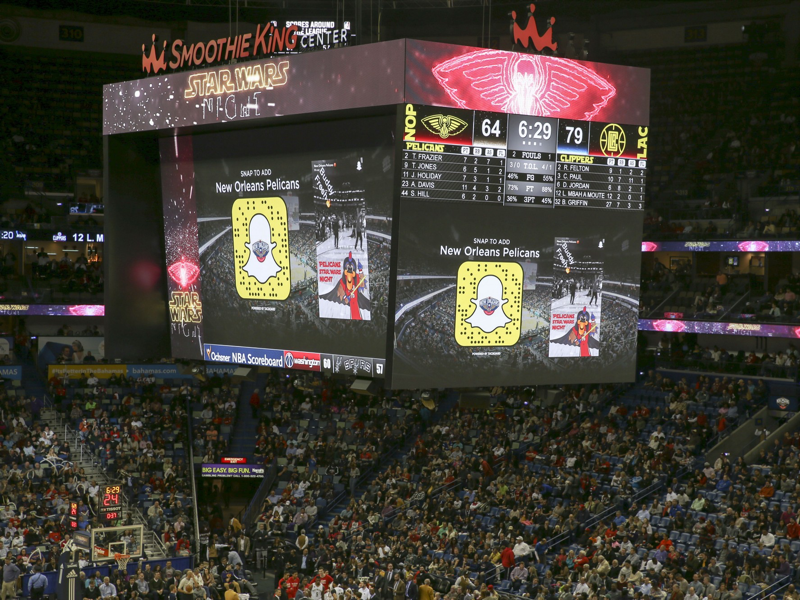 Snapchat Stories Display New Orleans Pelicans