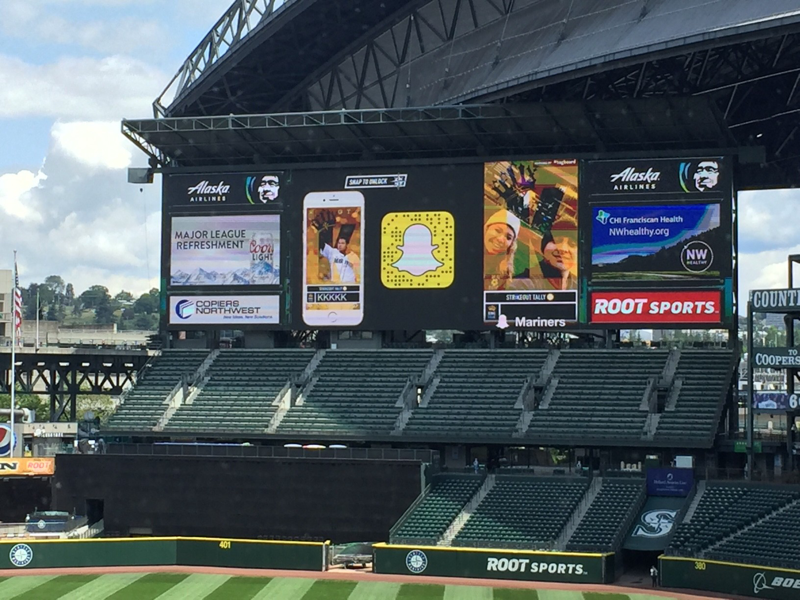 Snapchat Stories Display Seattle Mariners